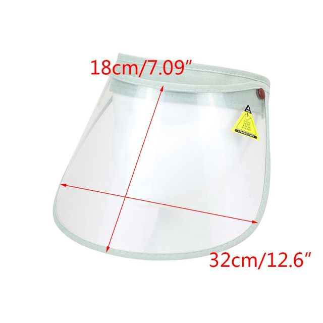 2020 New Safety Foldable Face Shield Cover Transparent Elastic Anti-saliva Protection Full Face Mask Visor 2