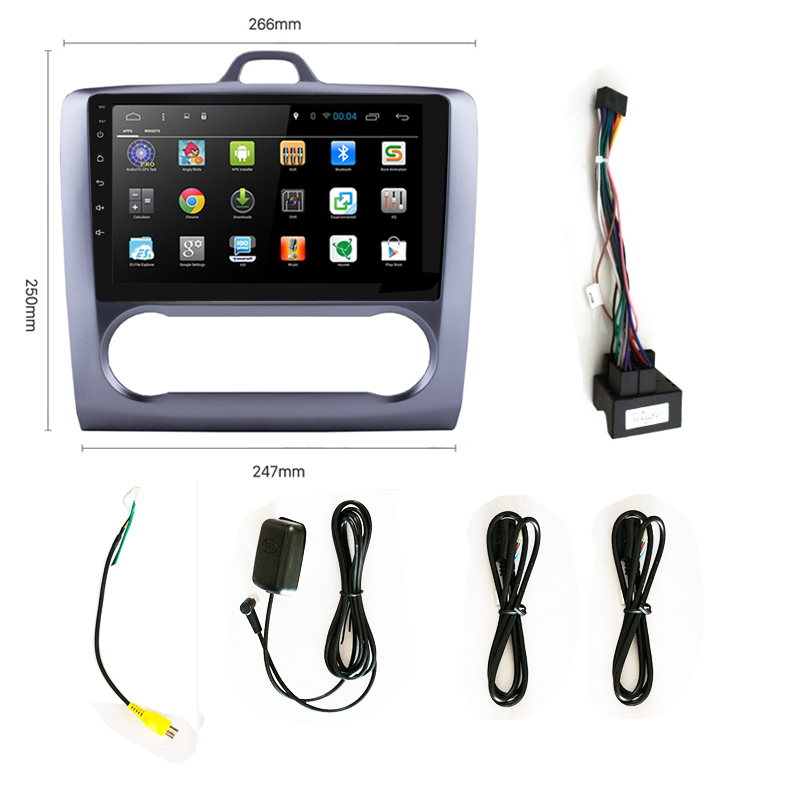 Android 8.1 Car Radio GPS Navigation <font><b>Multimedia</b></font> Player Head Unit For 2004 2005 2006 2007-2011 <font><b>Ford</b></font> <font><b>Focus</b></font> 2 <font><b>Mk2</b></font> AT image