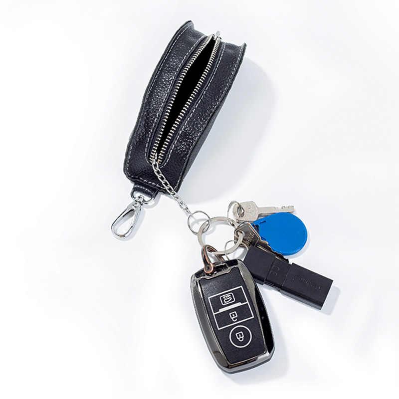 EISIPURI mężczyźni futerał na klucze oryginalna krowa skórzany na klucze Auto etui na klucze etui na zamek brelok kobiety Multicolor Home uchwyt na kluczyk samochodowy