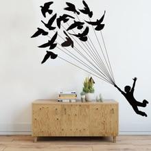 Birds Little Prince Wall Decal Nursery Kids Room Dream True Boy Balloon Sticker Bedroom Playroom Vinyl LW270