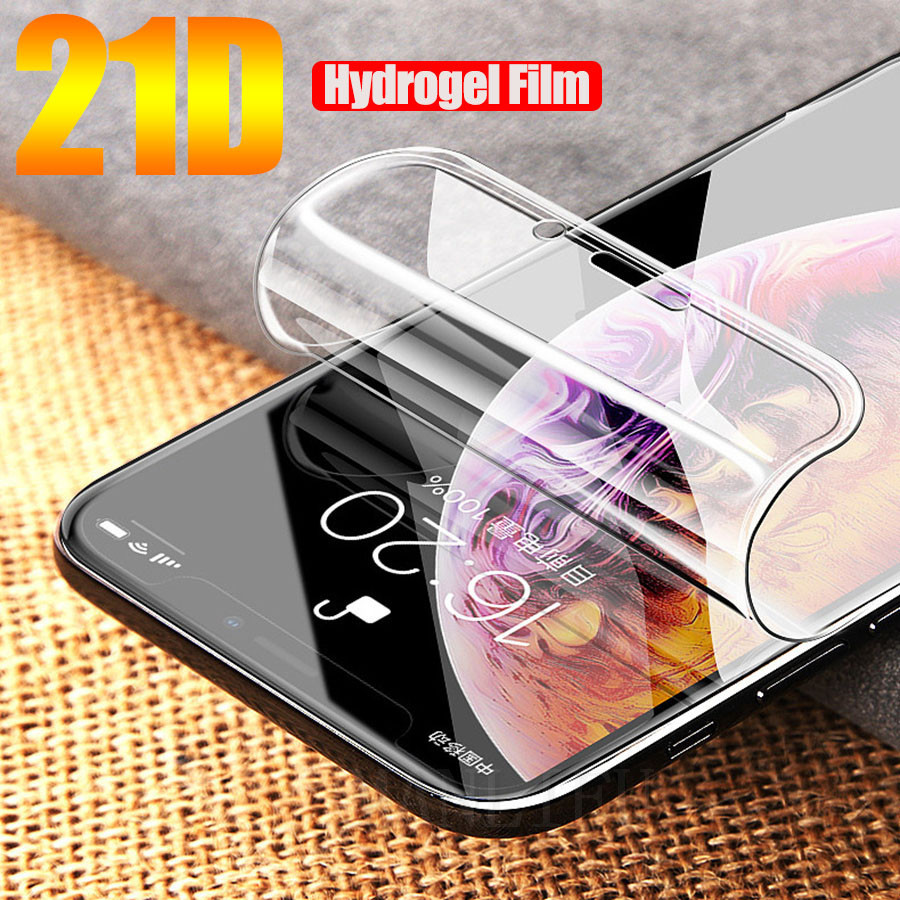 21D Soft Hydrogel Film For Apple IPhone 11 Pro XS Max XR Iphone X 7 8 Plus Protective Silicone TPU Screen Protector(Not Glass)