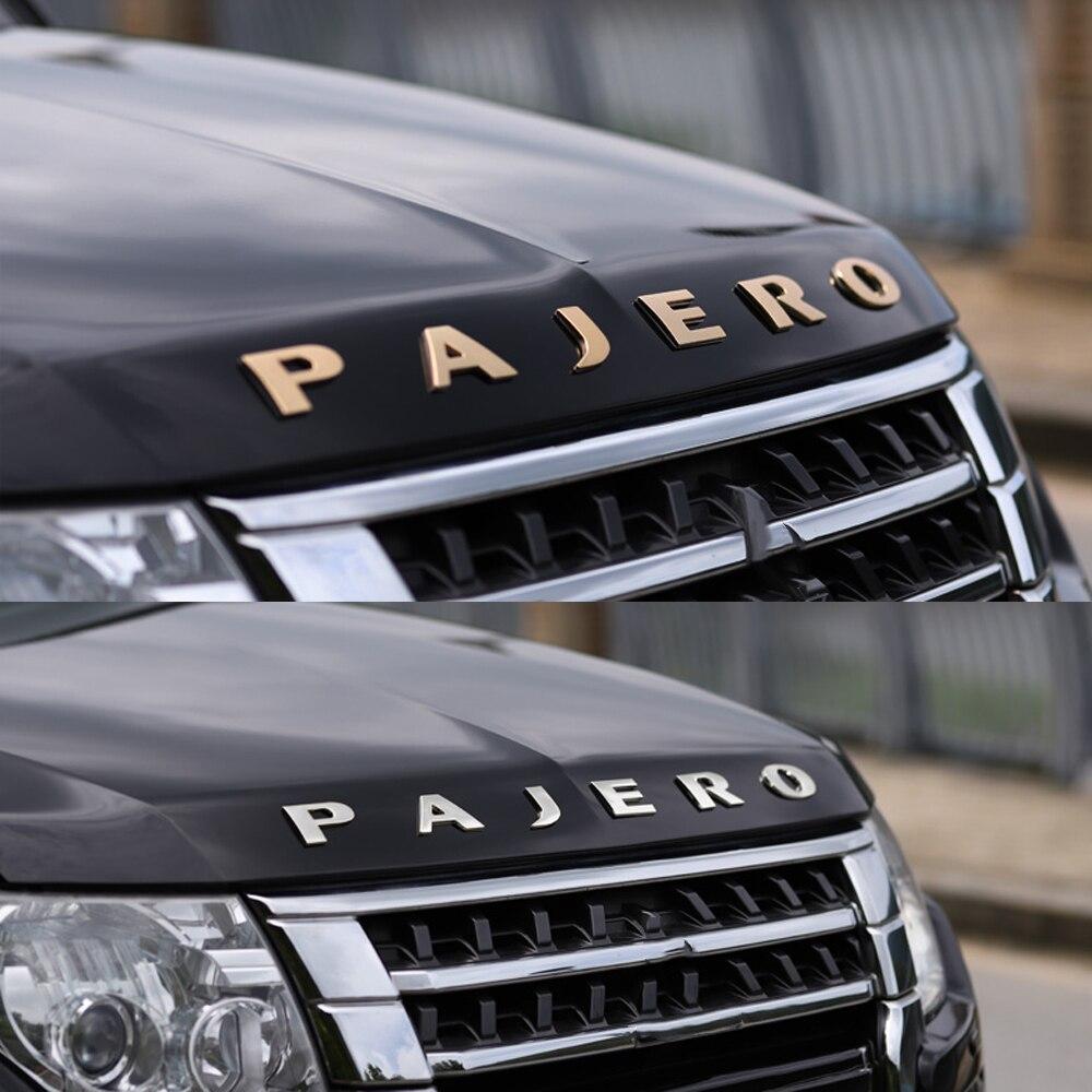 Эмблема буквы слова PAJERO наклейка на капюшон наклейка для Mitsubishi PAJERO V93 V97 V73 V31 V32 V33 V34 PAJERO эмблема значок наклейка