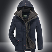 Winter Warm Jackets Thick Fleece Men'S Coats Casual Cotton Clothes Fur Collar Mens Military Tactical Parka Workwear Outerwear