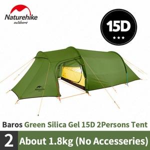 Палатка Naturehike Opalus, палатка для кемпинга на 2-3 человека, 20D силикон/210 т, полиэстер, ткань, палатка, без следов, для улицы
