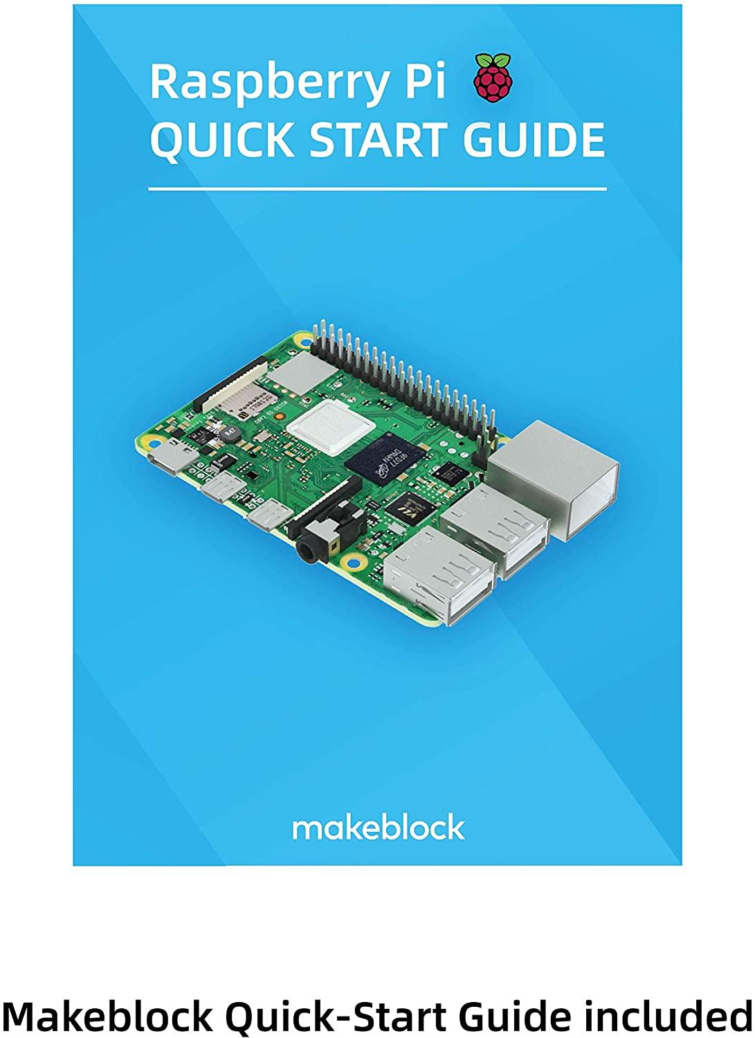 Makeblock Raspberry Pi 4B Complete Starter Kit With Model B Plus Motherboard, 16GB Micro SD Card, 5V 3A On/Off Power Supply,