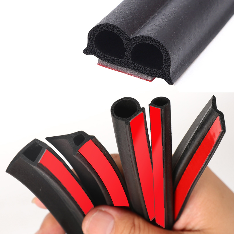 2meter Adhesive Car Seal Strip Auto Door Window Trunk Seal Dustproof Sound Insulation EPDM RUBBER Strips Styling