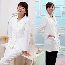 Корейский версии высокая-конец пластическая хирургия больница челюстно врача пиджак медицинские татуировки мужчин и женщин белый пальто