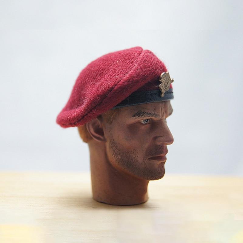 "1//6 Scale Soldiers Accessories Vintage British Cap Beret 4 Colors F 12/"" Body"