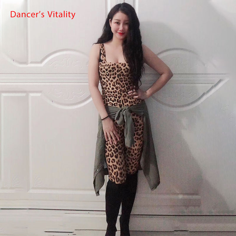 Oriental Dance Dance Dress Leopard Print Color Jumpsuit Ladies Belly Dance Dance Practice Clothes Sleeveless Jumpsuit
