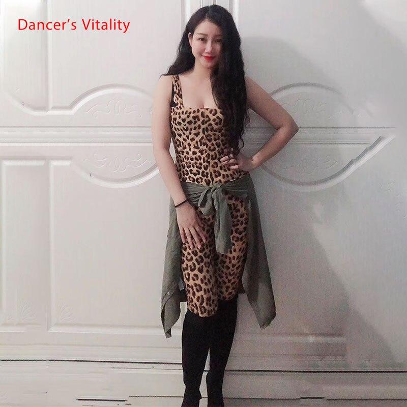 Oriental Dance Dance Dress Leopard Print Color Jumpsuit Ladies Belly Dance Dance Practice Clothes Sleeveless Jumpsuit