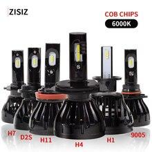 купить h7 led H1 H7 H11 H4 9005 D2S HB3 H10 H8 H9 D2C Car Headlight Auto Head LED Lamp Light Bulb Side Lumens CSP 60W 96W 4800LM Canbus по цене 1704.73 рублей