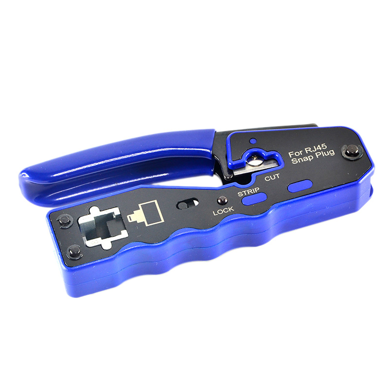HY-670 8P8C RJ45 Cable Crimper Ethernet Perforated Connector Crimping Tools Multi-Function Network Tools Cable Clamps