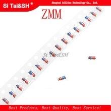 300PCS ZMM 3V 3V3 3V9 4V7 5V1 7V5 8V2 10V 12V 15V 16V 18V 20V 24V LL34 pacote SMD diodo 1/2W 0.5w Chip de diodo