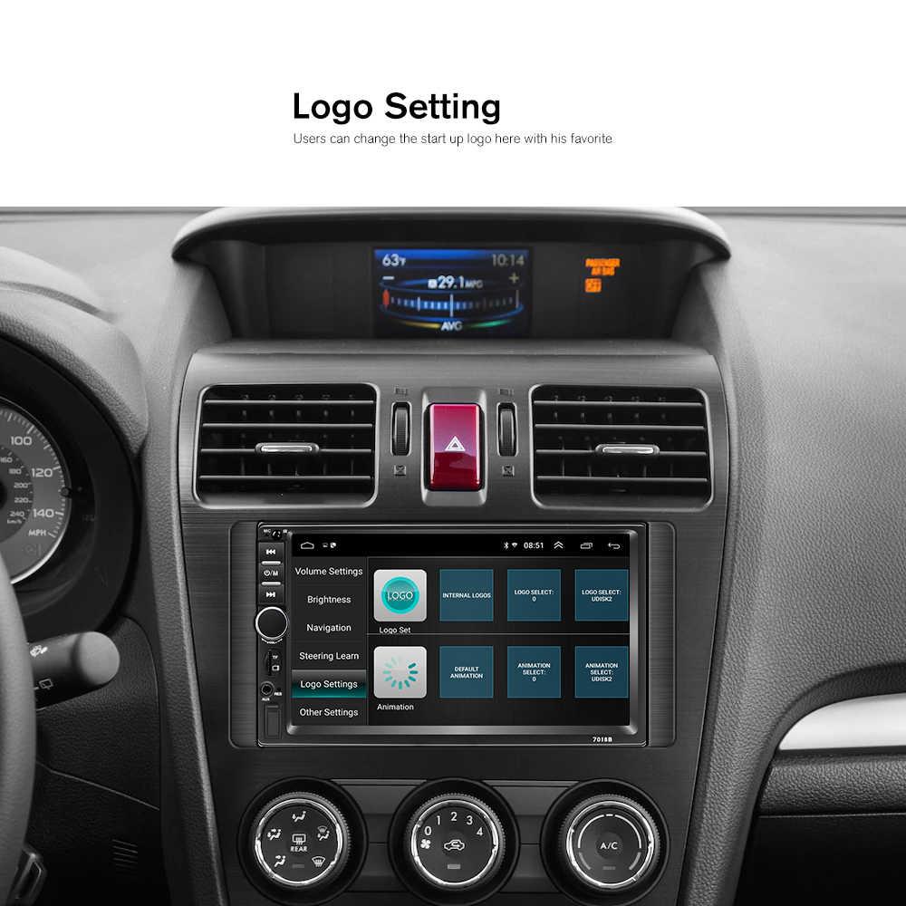"""Hikity 2 Din araba radyo Android 8.1 2G + 32G 7010B GPS 7 """"HD Autoradio multimedya oynatıcı wifi radyo Hyundai Nissian Toyota"""