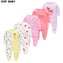5pcs Sleepers Baby Pyjamas Newborn Girl Boy Pijamas bebe fille Cotton Breathable Soft ropa bebe Newborn Sleepers Baby Pjiamas