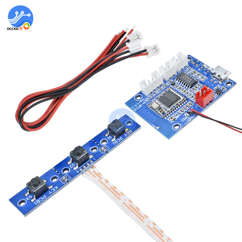 PAM8406 Bluetooth 4 1 Stereo Amplifier Board 5W 5W Audio Receiver Module Speaker Sound Board for Hand-free Call
