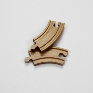 Wood-Shaped Wooden Curved Trac