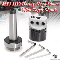 Protable 50mm MT3-M12 universal uso 2 Polegada cabeça chata com haste morse atarraxamento para torno ferramenta de trituração chato barra