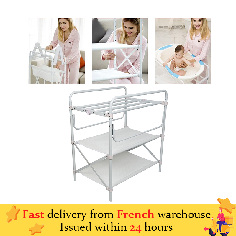 3 Layers Baby Diaper Changing Tables Foldable Newborn Baby Infant Clothes Changing Desk Shower Baby Care Table Baby Crib HWC