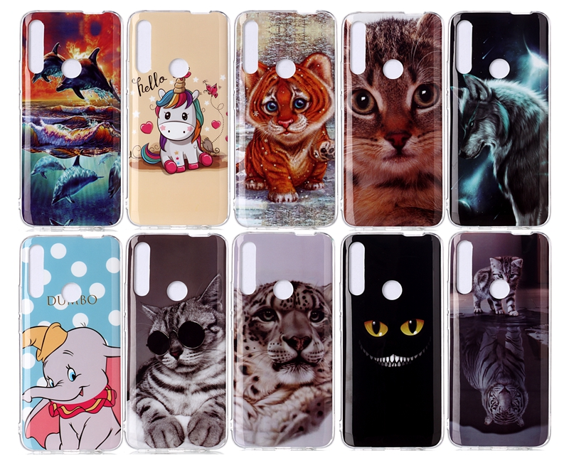 Soft TPU Phone <font><b>Case</b></font> For Coque Hawei <font><b>Y7</b></font> <font><b>2019</b></font> Cute <font><b>Cat</b></font> Unicorn Soft TPU Back Cover For Etui Hawei <font><b>Y7</b></font> <font><b>2019</b></font> Y 7 7Y Back <font><b>Case</b></font> image