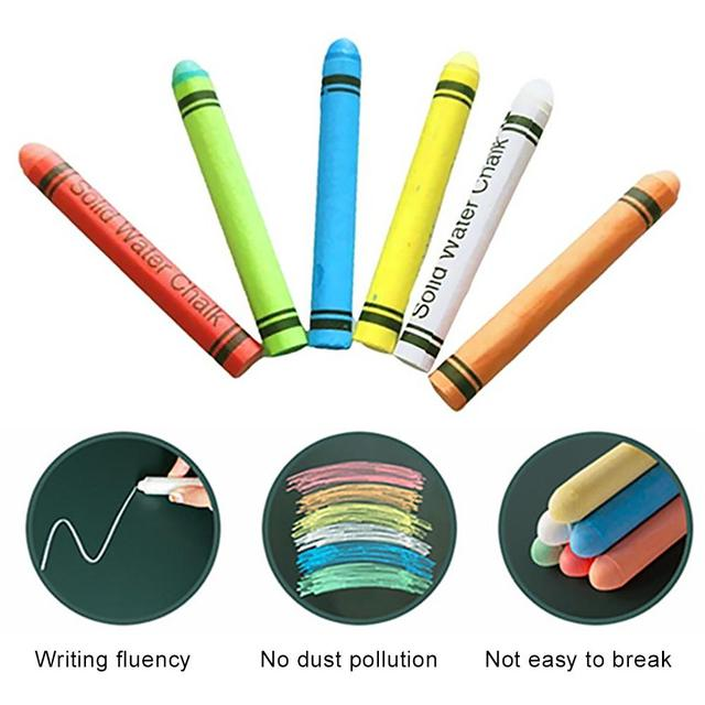 Free Shipping stationery supplies 30Pcs Water-soluble Dustless Chalk Crayons Set Office School Education Supplies