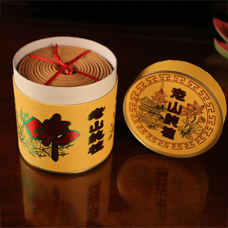 12 Hour Burning Laoshan Sandalwood Coil Incense, 30 coils/box