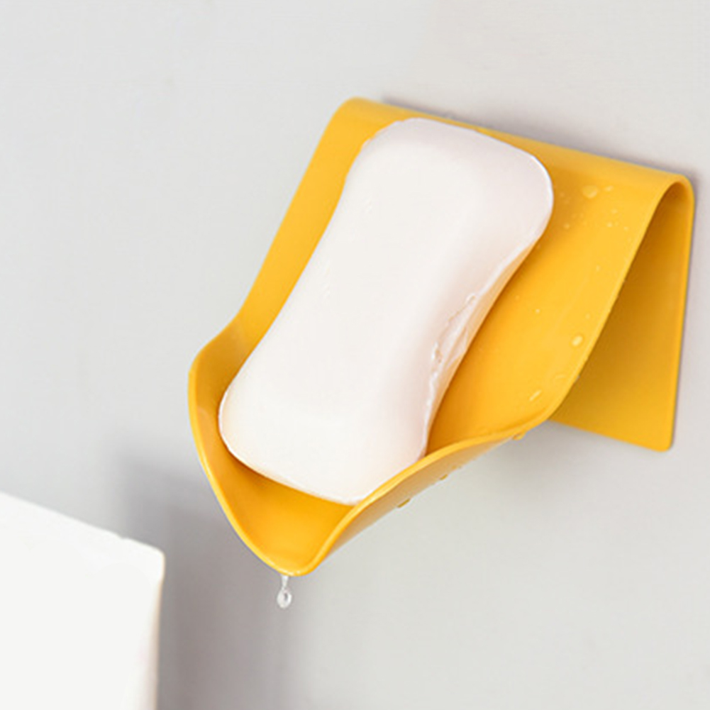 Portable Seamless Paste Wall Hanging Drain Soap Holder Box Home Bathroom Storage Box Wall Mounted  Soap Dishes Soap Sponge Dish