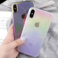 Shining Laser Water Drop Gradient Phone Case For iPhone11 11