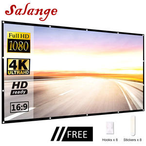 Salange Projector-Screen Travel Theater Outdoor Portable Home 100-120inch Led 60 Yes