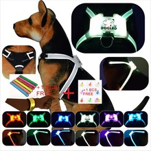dogled Durable Reflective Pet Dog Harness For Dogs Adjustable Big dog Walking Small Medium Large