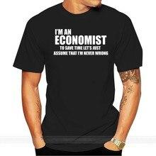 Grappige Economist T-shirt Mba Student Economist Economie Economie Trui Katoenen T-shirt Mannen Zomer Mode T-shirt Euro Size