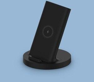 Image 5 - Оригинальное вертикальное Беспроводное зарядное устройство Xiaomi, 20 Вт, горизонтальная подставка для Mi 9 (20 Вт) MIX 2S / 3 / S10 (10 Вт), совместимая с Qi, универсальная, безопасная
