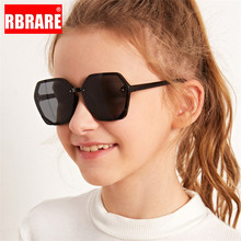 RBRARE Lovely Children Sunglasses Polygonal Transparent Pink