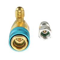 Equipment Oil Dye Injector Wear resistant A/C Low R12 R134A Quick Coupler Adapter Set Handtool Useful