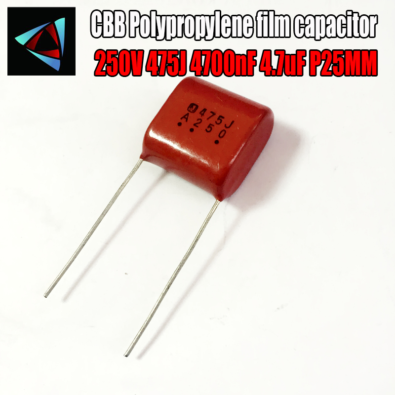 2PCS 250V 475J 4700nF 4.7uF P25 Polypropylene Film Capacitor Pitch 25mm
