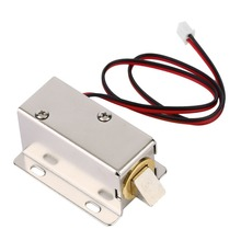 Magnetic Lock Professional Small DC 12V Open Frame Type Solenoid For Electric Door Lock with Low Power Consumption Stability small electromagnetic lock a22 12v electric solenoid lock cabinet door electric magnetic lock assembly solenoid lock three type