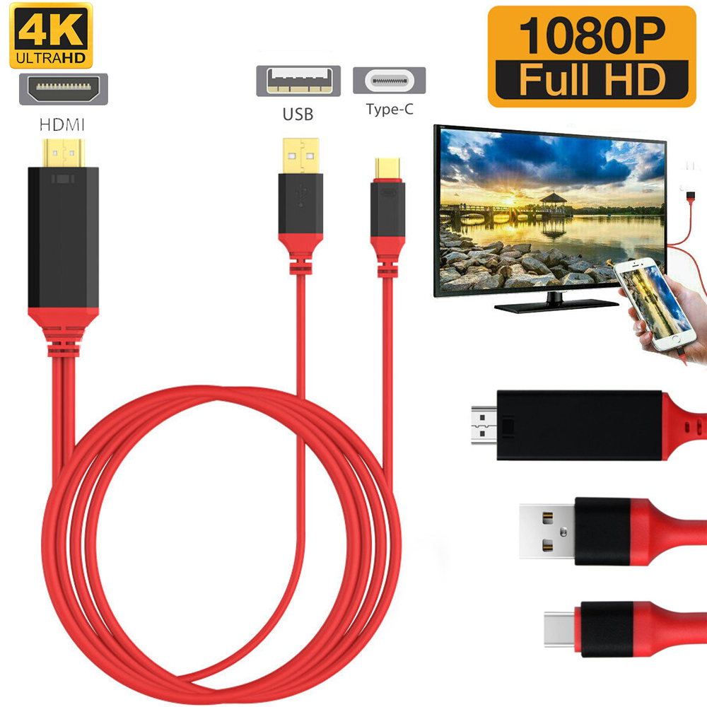 USB 3,1 типа C на HDMI-совместимый кабель адаптер конвертер Ultra1080P 4 к зарядки HDTV видео для Samsung Galaxy S9/S8/Note 9