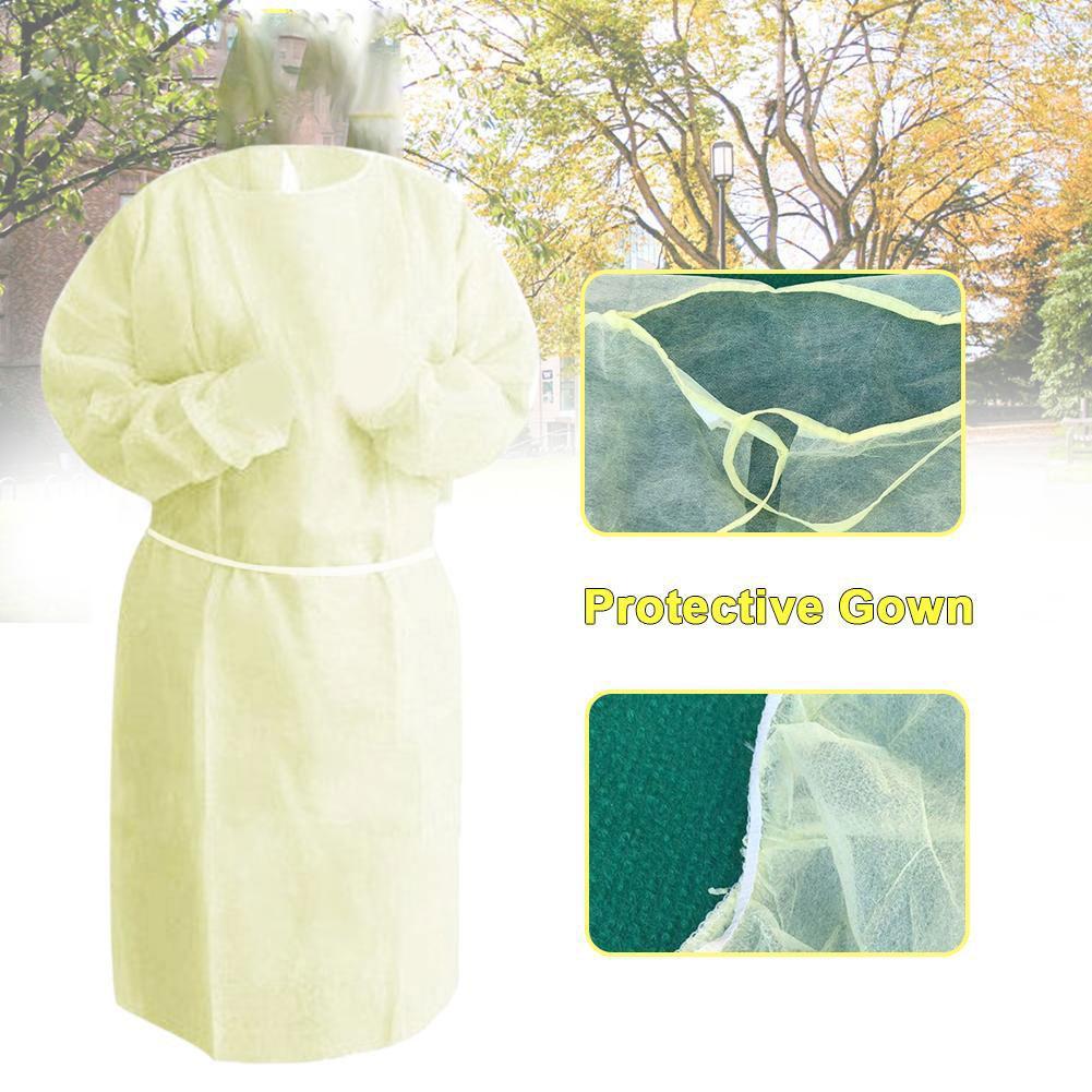 Unisex Disposable Anti-dust Safety  Anti-static Clothing Factory Hospital Protection Coverall Isolation Gown Suit