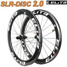 Elite aro de freio a disco slr, conjunto de rodas de bicicleta de carbono, sistema de baixa resistência, clincher tubular, sem câmara, 700c, cascalho, bicicleta
