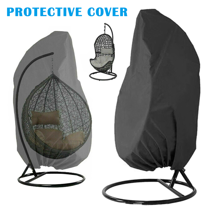 Outdoor Patio Hanging Chair Cover Heavy Duty Egg Swing Chair Covers Dust Cover Outdoor Garden LXY9