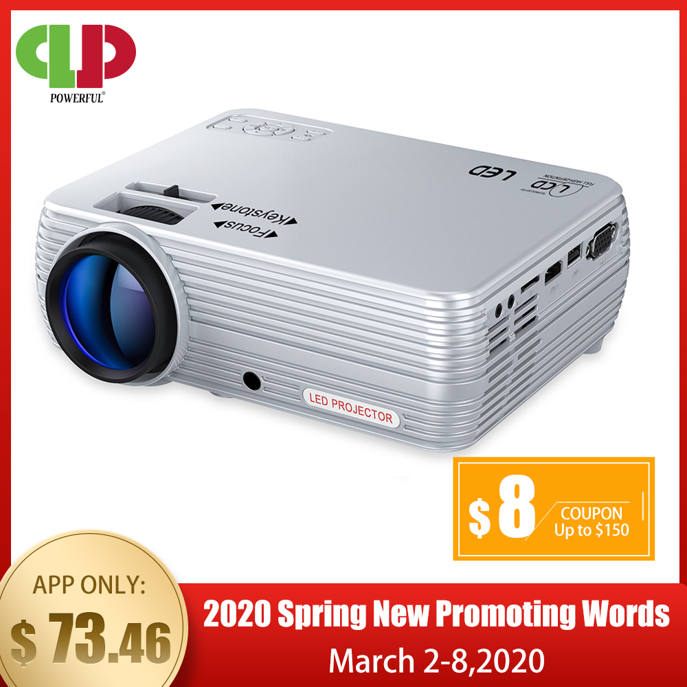 POWERFUL MINI Projector X5  1280 720P 2600L 1080P Support  3D Portable Beamer Compatible with TV Stick  PS4  HDMI  VGA  and USB