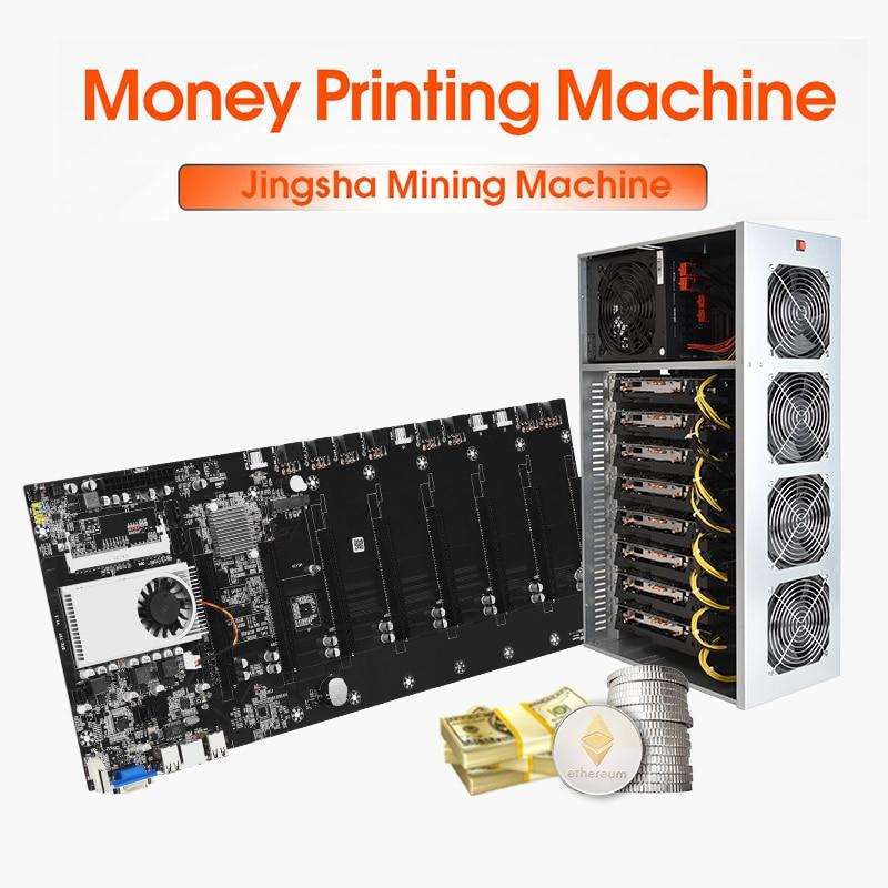 материнская плата майнинг btc 37 8 GPU mining motherboard материнка ферма для майнинга с cpu криптовалютериум, Биткоин, резервная экспертная материнские п...