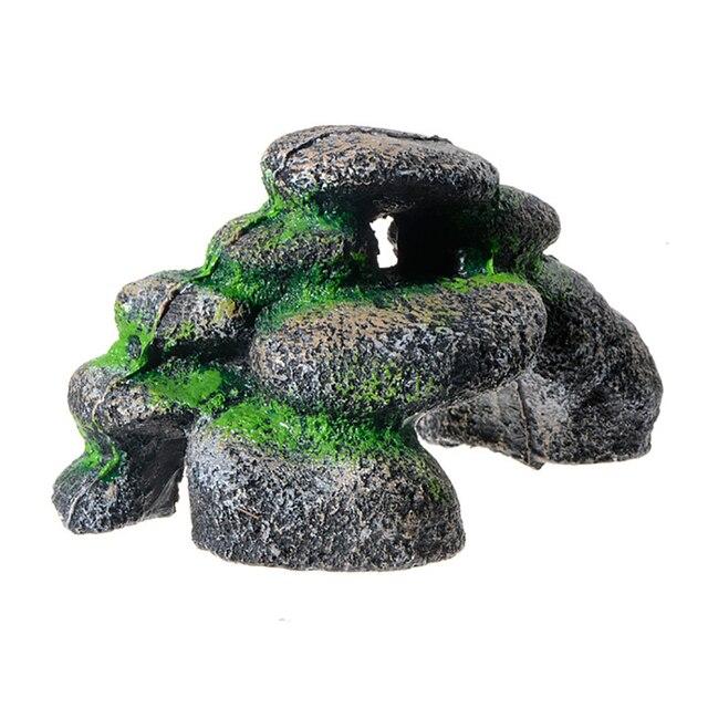 Rock Cave Aquarium Landscape Fish Tank Stones 3