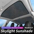 Обновление Солнцезащитная блена Стекло для крыши, Солнцезащитный Для Tesla модель 3 19-21/модель Y спереди и сзади люк лобовое стекло Skylight слепой ...