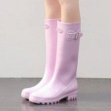 Botas de lluvia para mujer modelos de moda usan zapatos de agua de tubo de medio botas de agua coreanas bonitas Botas de lluvia de