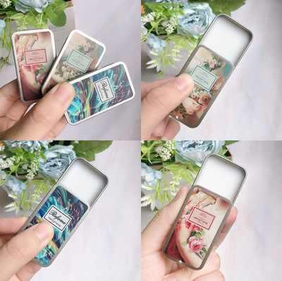 男性女性香水フルーツ花植物ソリッドガール香水魔法バーム鉄ボックス簡単にキャリーボディフレグランスアルコール香り