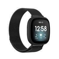 Correa de acero inoxidable para reloj inteligente Fitbit versa 3/sense, banda suave de repuesto colorida de Metal