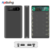 Qc3.0 Fast Charge Power Bank Shell 6*18650 Battery Charger Box Digital Display Powerbank Shell Power Kit Battery Case Quick
