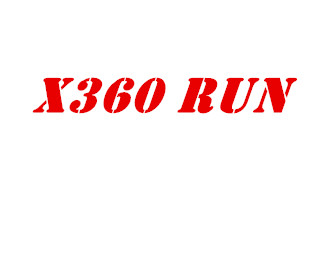 New X360run X360&run X360 And Run V1.0 V1.1  Yellow Red