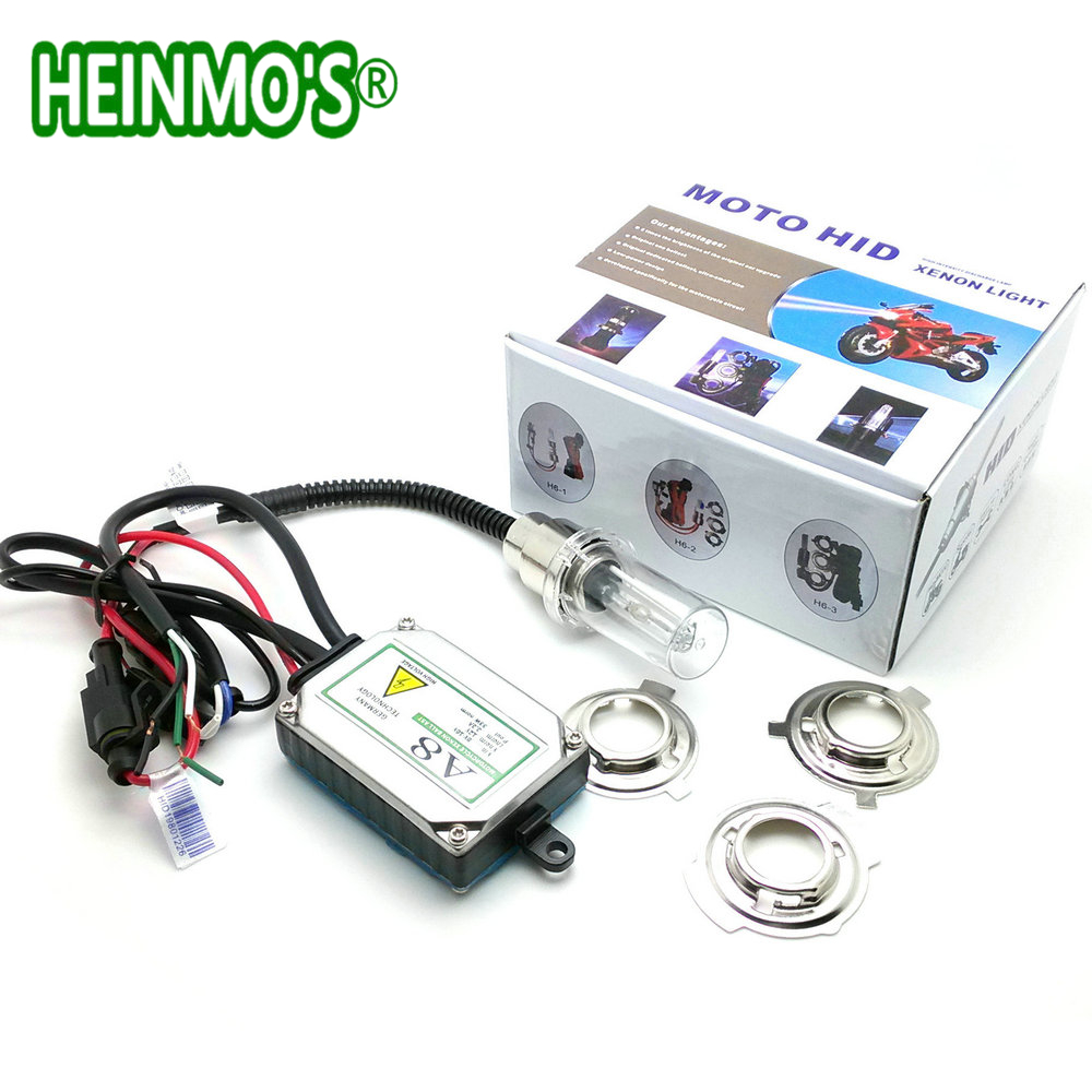 Hid Xenon Motorcycle Headlight Universal Hi/Lo Motorbike H6m H6 H4 BA20D Bi Xenon Motorcycle HID Headlight Lamp Bulb Head Light